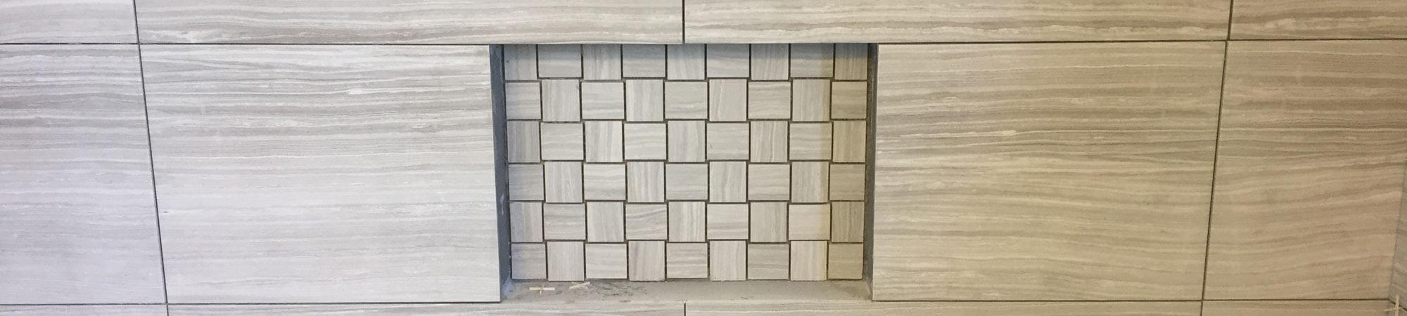 Shower Tile with Soap Shelf